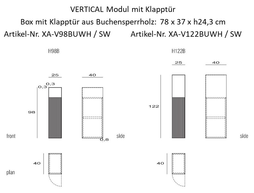 Wandmodul Horizontal & Vertical